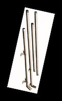 Труба (опуск) поилок  / Т-обр, h-660мм х 400мм, на 2 сосковых поилки (в станок для оплодотворения), нерж.