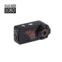 Микро видеорегистратор FULL HD с  разрешением 1920*1080P, функция фотоаппарата, время работы 70 мин (мод QQ6))