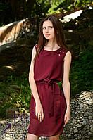 Платье летнее с поясом  Жемчуг