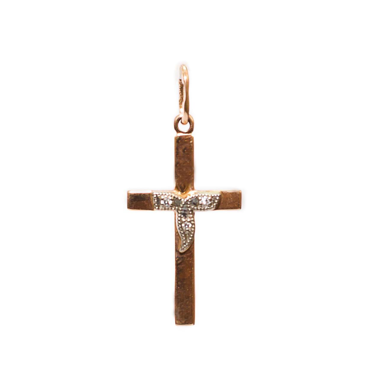 Золотой крест с бриллиантами 59042