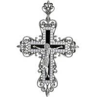 Крест серебряный Царский с Эмалью 410500