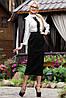Классическая черная юбка длины миди 44-52 размеры