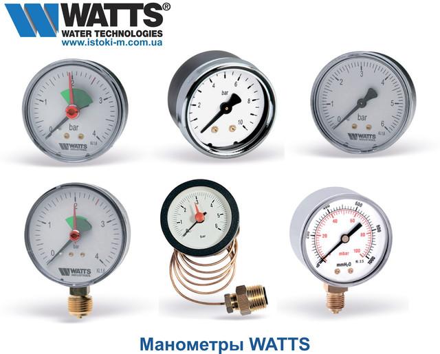 радиальный манометр watts