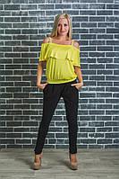 Костюм женский с блузкой желтый