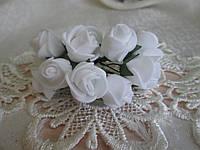 Роза 1,5 см біла