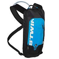 Велорюкзак с гидратором, рюкзак велосипедний Btwin 300 голубой