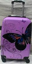 Валіза пластиковий для подорожей Метелик