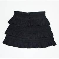 Красивая школьная юбка черного цвета. Размеры 134, 146, 152
