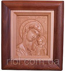 Икона из дерева Казанской Божией Матери