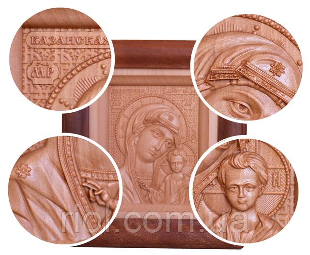 икона божьей матери из дерева