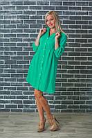 Стильная женская туника-платье мята