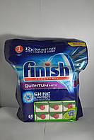 Finish Quantum Max лайм 60шт., таблетки для посудомоечных машин