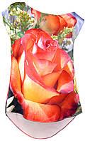 ТНК-056. Туніка жіноча з принтом Троянда