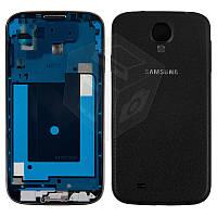 Корпус для Samsung Galaxy S4 i9500, черный, black edition, под кожу, оригинальный