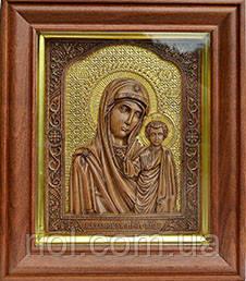 казанська божа матір в золоті