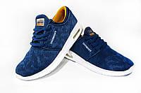 Женские, подростковые кроссовки BaaS, текстиль, синие Р. 40