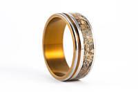 Мужcкое обручальное кольцо с Яшмой из титана от Wickerring