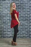 Стильная  женская футболка бордо, фото 1