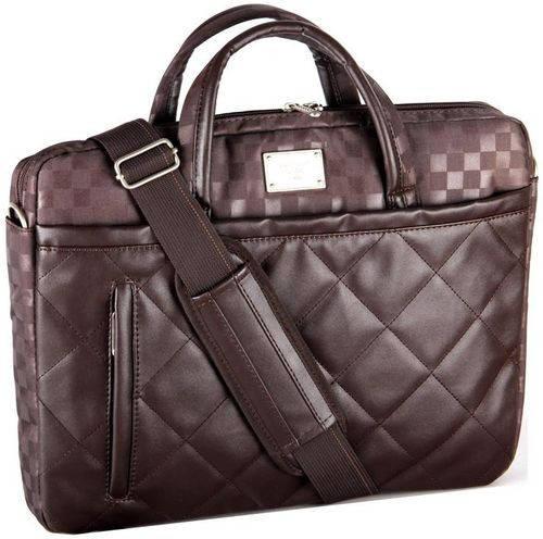 """Стильная сумка для ноутбука до 16"""" из полиэстер/исскуственная кожа Continent CC-02 Safari бежевый"""