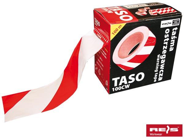 Стрічка сигнальна біло-червона двостороння TASO100 CW