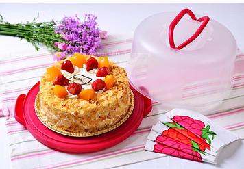 Контейнер-бокс для переноски торта 29 см