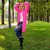 Яркий Кардиган крупной вязки  М 776898 Яркий розовый