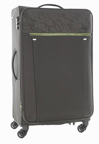 Вместительный 4-колесный семейный чемодан-гигант 108/128 л. Roncato Zero Gravity DLX 4471/57 зеленый