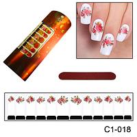 Наклейка Роза для ногтей