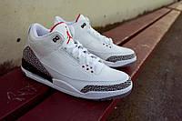 Кроссовки мужские Баскетбольные Air Jordan 3 Retro White grey