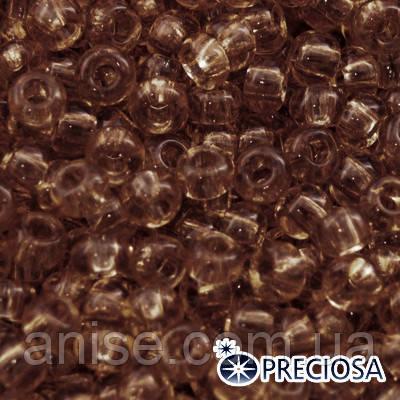 Бисер Preciosa 10/0 цв. 01112, Прозрачный Солгель Окрашенный CSD, Коричневый, Круглый, (УТ0003634)
