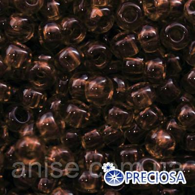 Бисер Preciosa 10/0 цв. 10110, Прозрачный NT, Коричневый, Круглый, (УТ0003694)