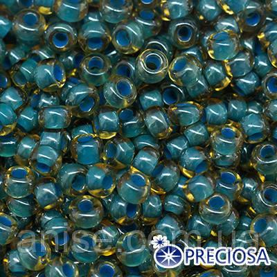Бисер Preciosa 10/0 цв. 11337, Прозрачный радужный TR, Бирюзовый, Круглый, (УТ0004283)