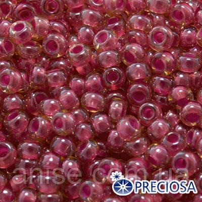 Бисер Preciosa 10/0 цв. 11396, Прозрачный радужный TR, Розовый, Круглый, (УТ0003672)