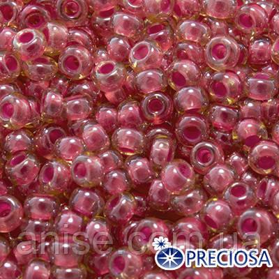 Бисер Preciosa 10/0 цв. 11028, Прозрачный радужный TR, Розовый, Круглый, (УТ0003703)