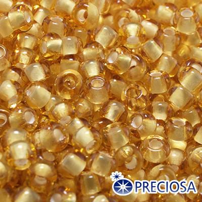 Бисер Preciosa 10/0 цв. 15056, Прозрачный Окраска из Середины CTC, Оранжевый, Круглый, (УТ0003728)
