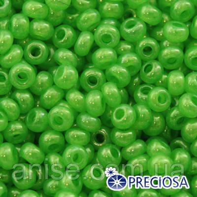 Бисер Preciosa 10/0 цв. 17156, Непрозрачный Радужный OL, Зеленый, Круглый, (УТ0001971)
