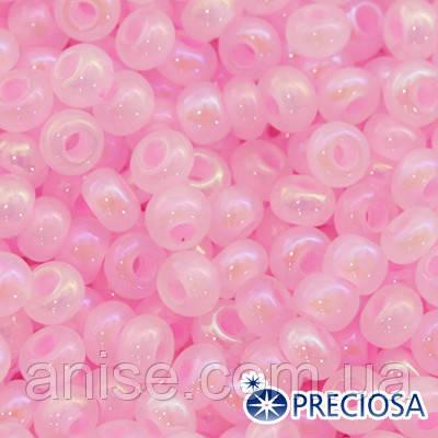 Бисер Preciosa 10/0 цв. 17173, Алебастр Жемчужный ALTCL, Розовый, Круглый, (УТ0003692)