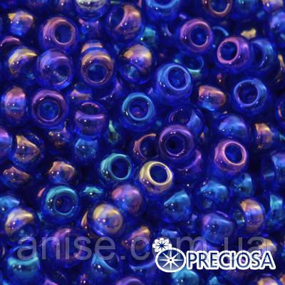 Бисер Preciosa 10/0 цв. 31080, Прозрачный радужный TR, Синий, Круглый, (УТ0001910)