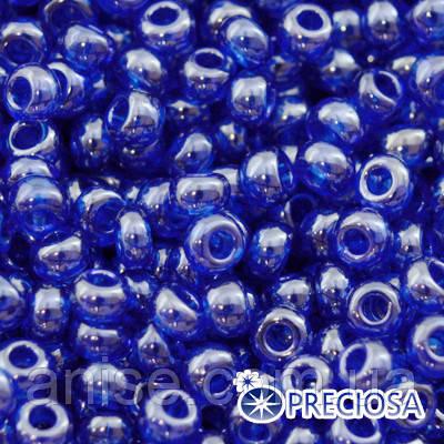 Бисер Preciosa 10/0 цв. 36030, Прозрачный блестящий TS, Синий, Круглый, (УТ0003702)