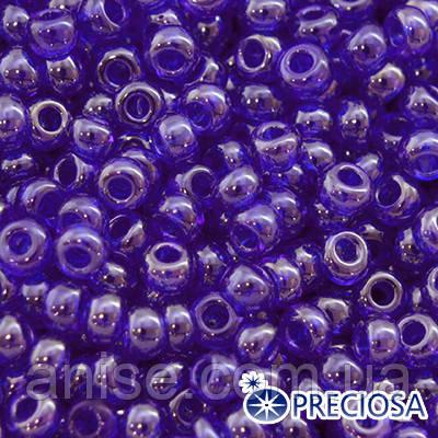 Бисер Preciosa 10/0 цв. 36080, Прозрачный блестящий TS, Синий, Круглый, (УТ0001878)
