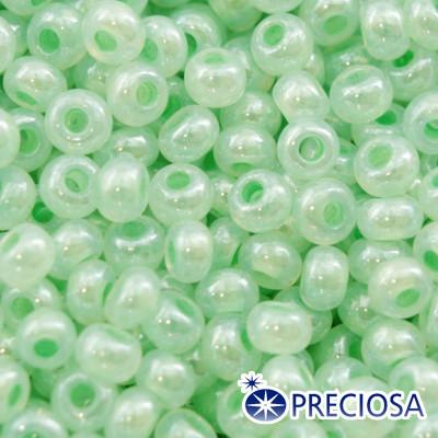 Бисер Preciosa 10/0 цв. 37154, Алебастр AL, Салатовый, Круглый, (УТ0001954)