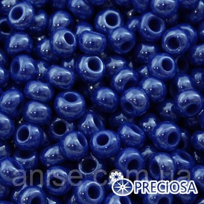 Бисер Preciosa 10/0 цв. 38050, Непрозрачный Радужный OL, Синий, Круглый, (УТ0001955)