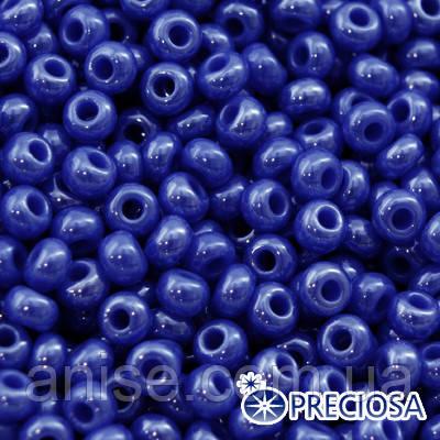 Бисер Preciosa 10/0 цв. 38060, Непрозрачный Радужный OL, Синий, Круглый, (УТ0003722)