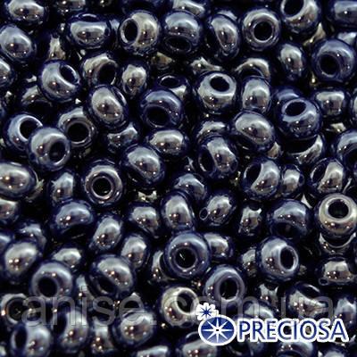 Бисер Preciosa 10/0 цв. 38070, Непрозрачный Радужный OL, Синий, Круглый, (УТ0001863)
