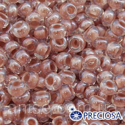 Бисер Preciosa 10/0 цв. 38117, Прозрачный Окраска из Середины CTC, Коричневый, Круглый, (УТ0001865)