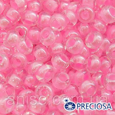 Бисер Preciosa 10/0 цв. 38123, Прозрачный Окраска из Середины CTC, Розовый, Круглый, (УТ0001866)
