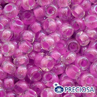 Бисер Preciosa 10/0 цв. 38128, Прозрачный Окраска из Середины CTC, Сиреневый, Круглый, (УТ0001870)