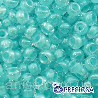 Бисер Preciosa 10/0 цв. 38155, Прозрачный Окраска из Середины CTC, Аквамарин, Круглый, (УТ0001934)
