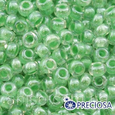 Бисер Preciosa 10/0 цв. 38156, Прозрачный Окраска из Середины CTC, Салатовый, Круглый, (УТ0001936)
