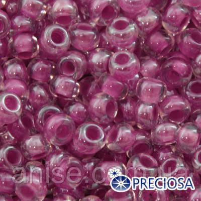 Бисер Preciosa 10/0 цв. 38198, Прозрачный Окраска из Середины CTC, Сиреневый, Круглый, (УТ0001900)